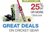 cricket gear flat