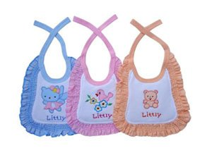 Littly Premium Baby Bibs with Frill