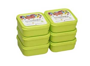 Ruchi Storewel Container Set, Set of 6, Solid Green
