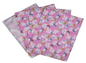 Littly Multipurpose Baby Cotton Sheets with Waterproof Base