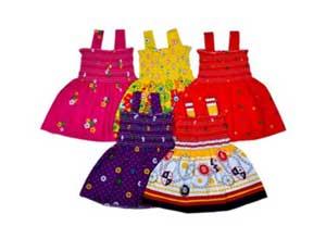 Sathiyas Baby Girls Gathered Dresses