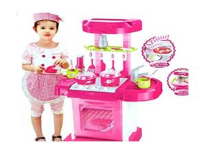 Kitchen Set Kids Luxury Battery Operated Kitchen Super Toy Set