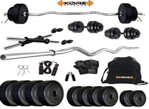 20kg Combo 3 Leather Home Gym and Fitness Kit