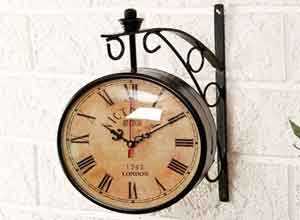 Unravel India Vintage Style Station Brass Double Side Antique Clock