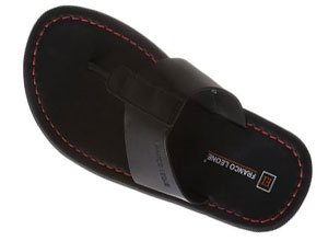 Franco Leone Mens Leather Hawaii Thong Sandals