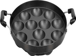 Tosaa 12 cavity Appam Patra with side handle
