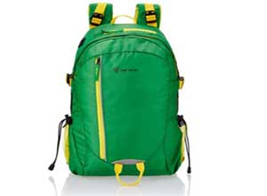 The Vertical Router Green Casual Backpack