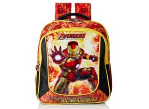 Iron Man Red and Black Childrens Backpack