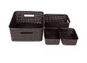Bel Casa ROYAL Baskets for Storage Set of 4 Pieces