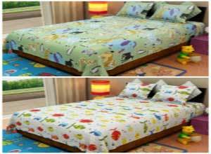 Home Candy Cotton Double Bedsheet With Pillow Covers at Flat 76% Off