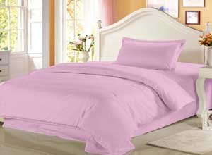 Story@Home 208 TC 100% Cotton Pink 1 Single Bedsheet with 1 Pillow Cover