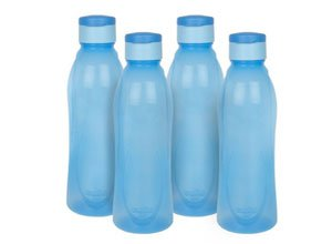 Cello Fresca Flip Polypropylene Bottle Set 1 Litre 4 Pieces