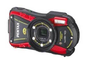 Pentax WG-10 16.1MP Point and Shoot Camera (Red) with 5x Optical Zoom