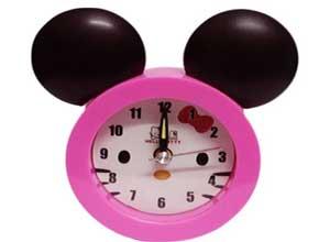 DecorO Trendy Plastic Round Alarm Clock