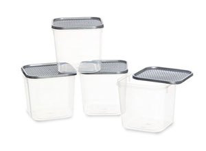 All Time Plastic Polka Container Set of 4