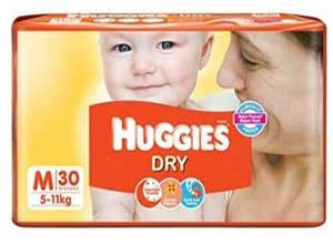Huggies Dry Diapers Medium Size