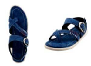 Bacca Bucci Blue Men Leather Sandals