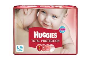 Huggies Total Protection Large Diapers 36 Count