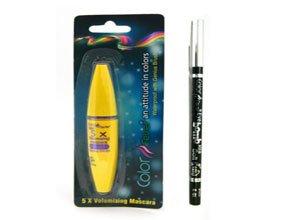 Color Fever Jet Black Volumizing Mascara,Color Fever Kajal Pencil Black