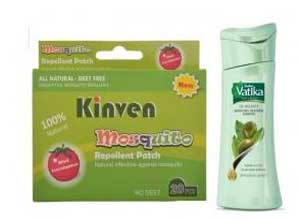 Kinven Mosquito Repellent Patch + Vatika Oil Balance Smoothing Treatment 50ml