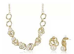 Sia Gold Plated Jewellery Set