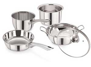 Pristine 5 Pcs Dlx Induction Everyday Cooking Set