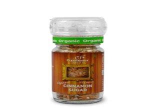 Certified Organic Cinnamon Sugar with Adjustable Grinder Cap