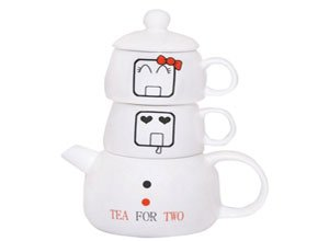Pyaala Lovely Dovey Tea Set For Two 450ml 4 Pieces