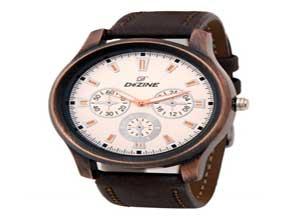 Dezine Mens White Dial analog watch
