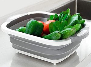 Fruits Vegetables Washing Basket and Cutting Board