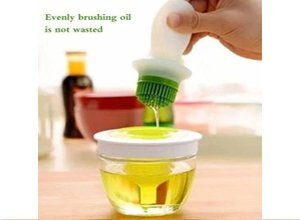 Bowl and Silicon Oil Brush for Cooking