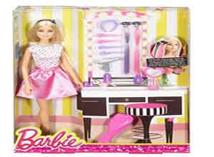 Barbie Doll & Playset with Hair Styling Accessories