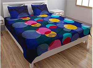 3D Double Bed Cotton bedsheet with 2 Pillow Covers