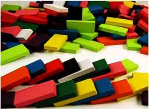 Domino Building Wooden Blocks Toys Set