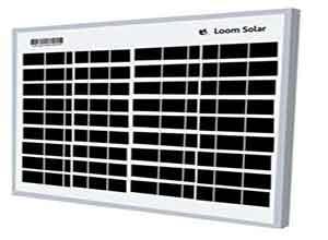 Loom Solar 10 Watt 12 Volt Solar Panel