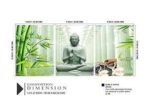 SAF Set of 3 Buddha UV Coated 6MM MDF